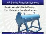 hf series filtration systems