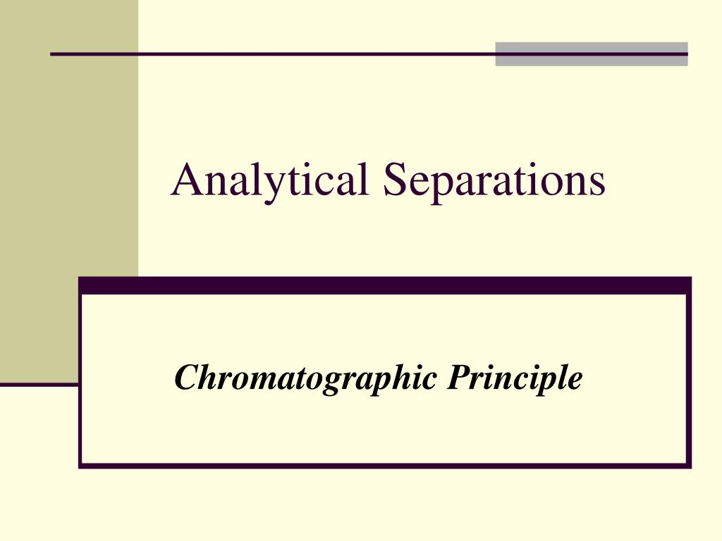 analytical separations l.