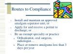 routes to compliance