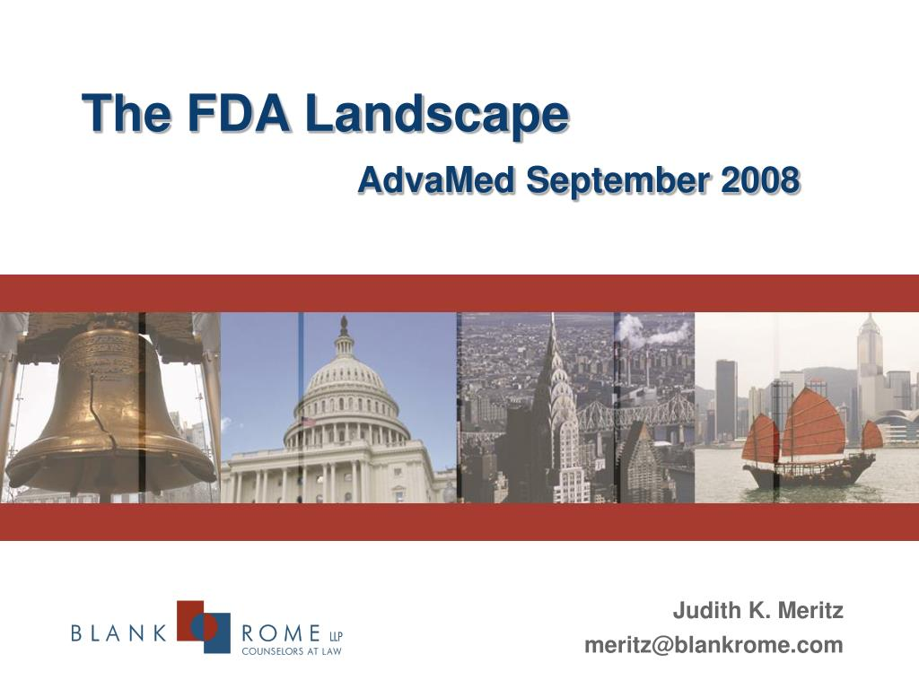 the fda landscape advamed september 2008 l.