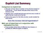 explicit list summary