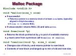 malloc package