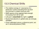 13 3 chemical shifts