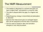 the nmr measurement