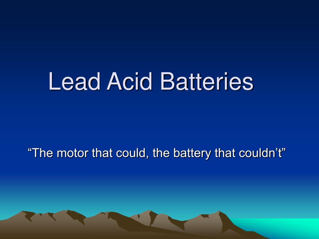 lead acid batteries l.