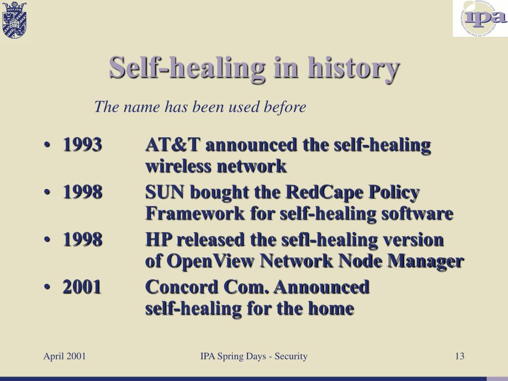 1993	AT&T announced the self-healing