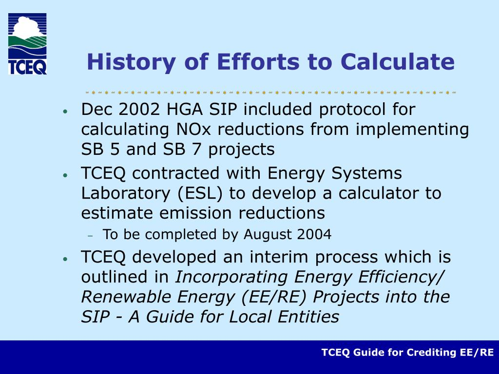 History of Efforts to Calculate