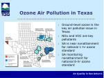 ozone air pollution in texas