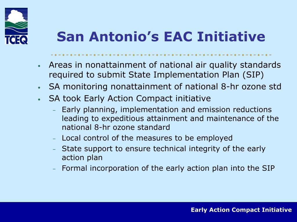 San Antonio's EAC Initiative