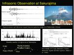 infrasonic observation at sakurajima