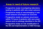 areas in need of future research
