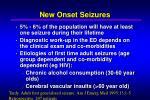 new onset seizures