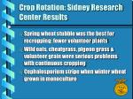 crop rotation sidney research center results3