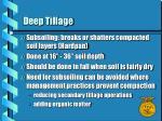 deep tillage