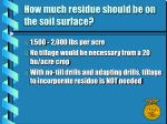 how much residue should be on the soil surface