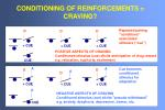 conditioning of reinforcements craving