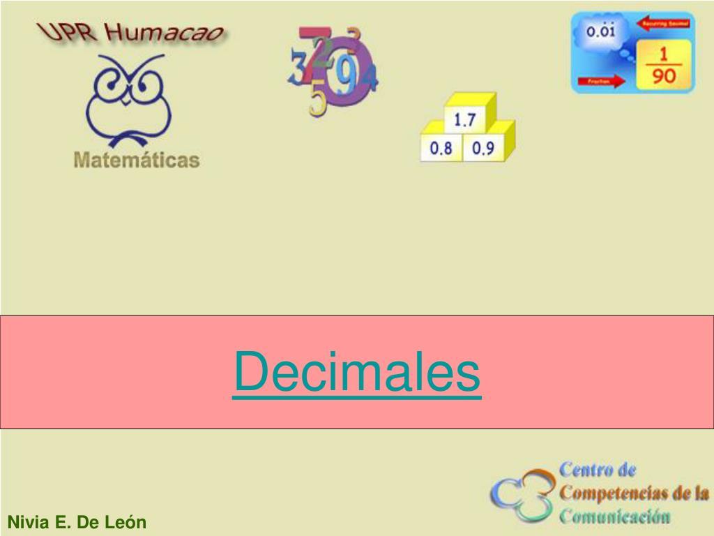decimales l.