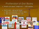 proliferation of diet books