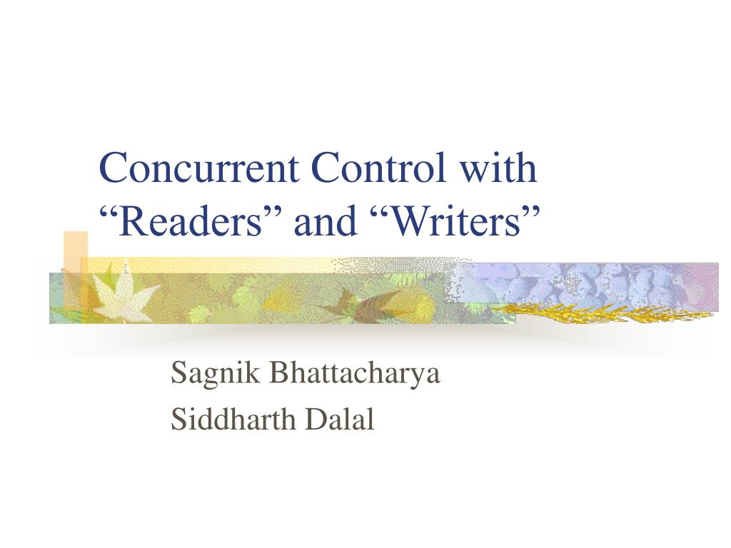 concurrent control with readers and writers l.