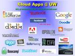 cloud apps @ uw