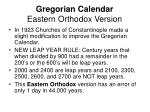 gregorian calendar eastern orthodox version