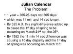 julian calendar the problem