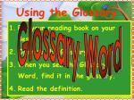 using the glossary