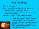 part templates
