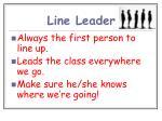 line leader