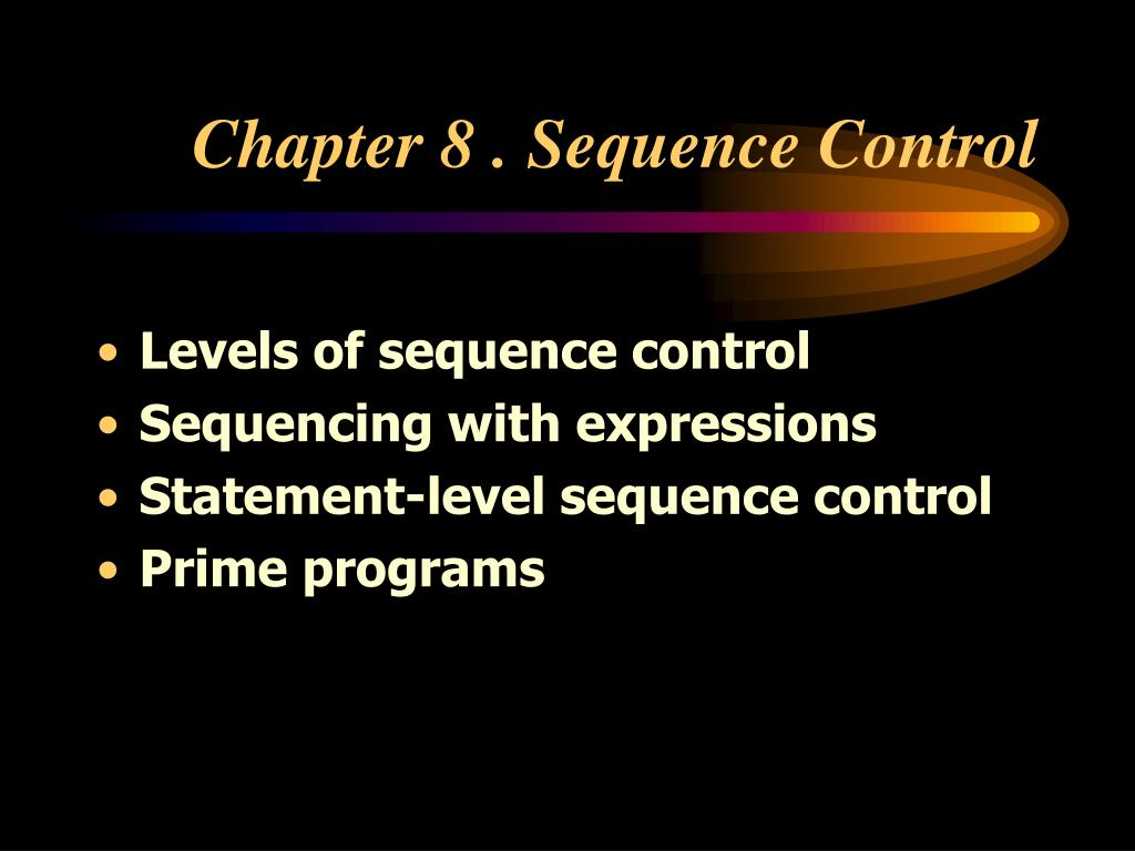 chapter 8 sequence control l.