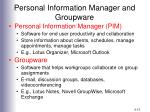 personal information manager and groupware