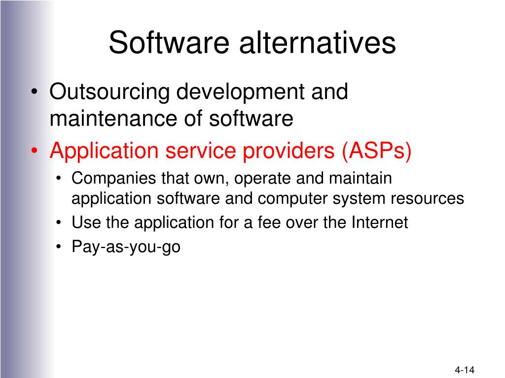 Software alternatives