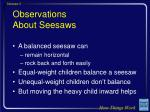 observations about seesaws