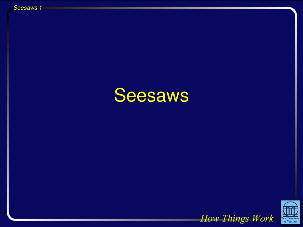 seesaws l.