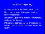 interior layering