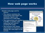 how web page works