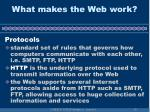 what makes the web work10