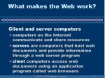 what makes the web work13