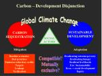 carbon development disjunction