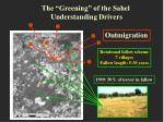 the greening of the sahel understanding drivers