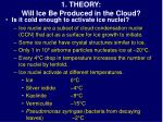1 theory will ice be produced in the cloud