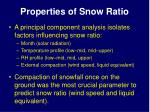 properties of snow ratio