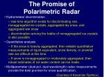 the promise of polarimetric radar