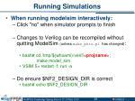 running simulations23