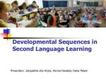 developmental sequences in second language learning