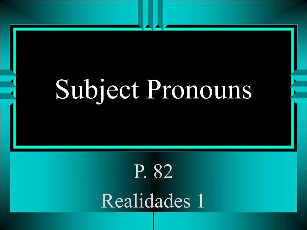 subject pronouns l.
