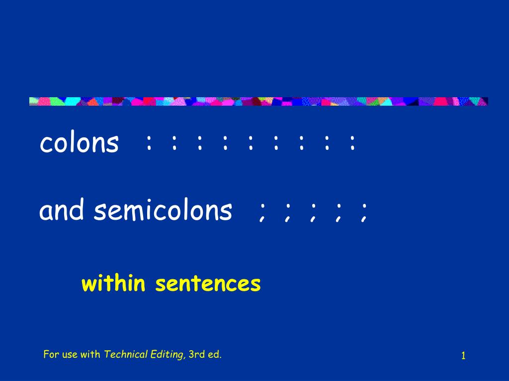 colons and semicolons l.