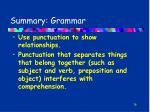 summary grammar