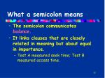 what a semicolon means
