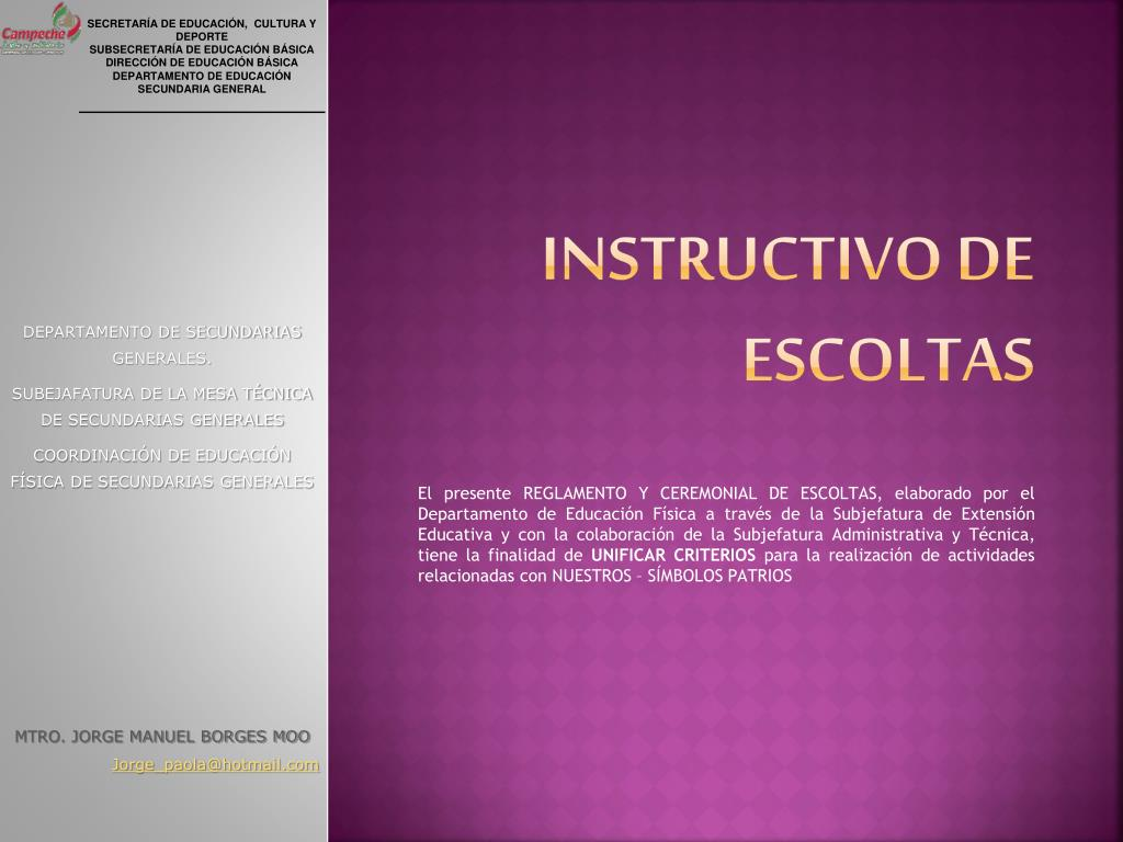 instructivo de escoltas l.